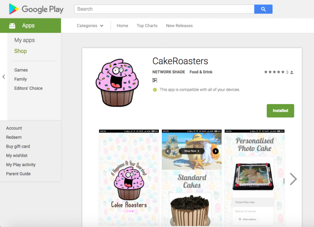 CakeRoasters - ANDROID