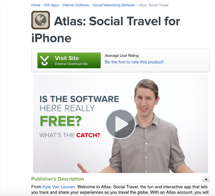 Atlas social travel - IOS