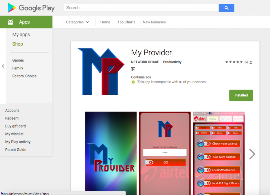 My Provider - ANDROID