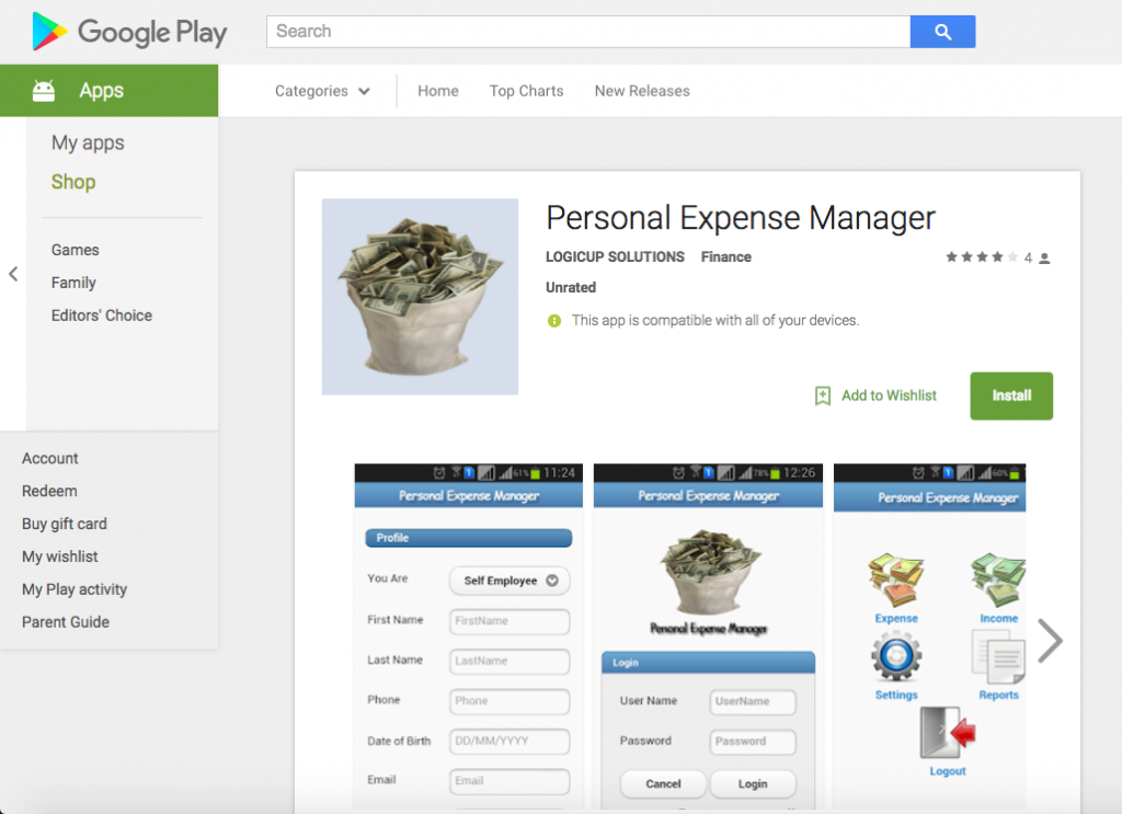 Personal Expense Manager - ANDROID