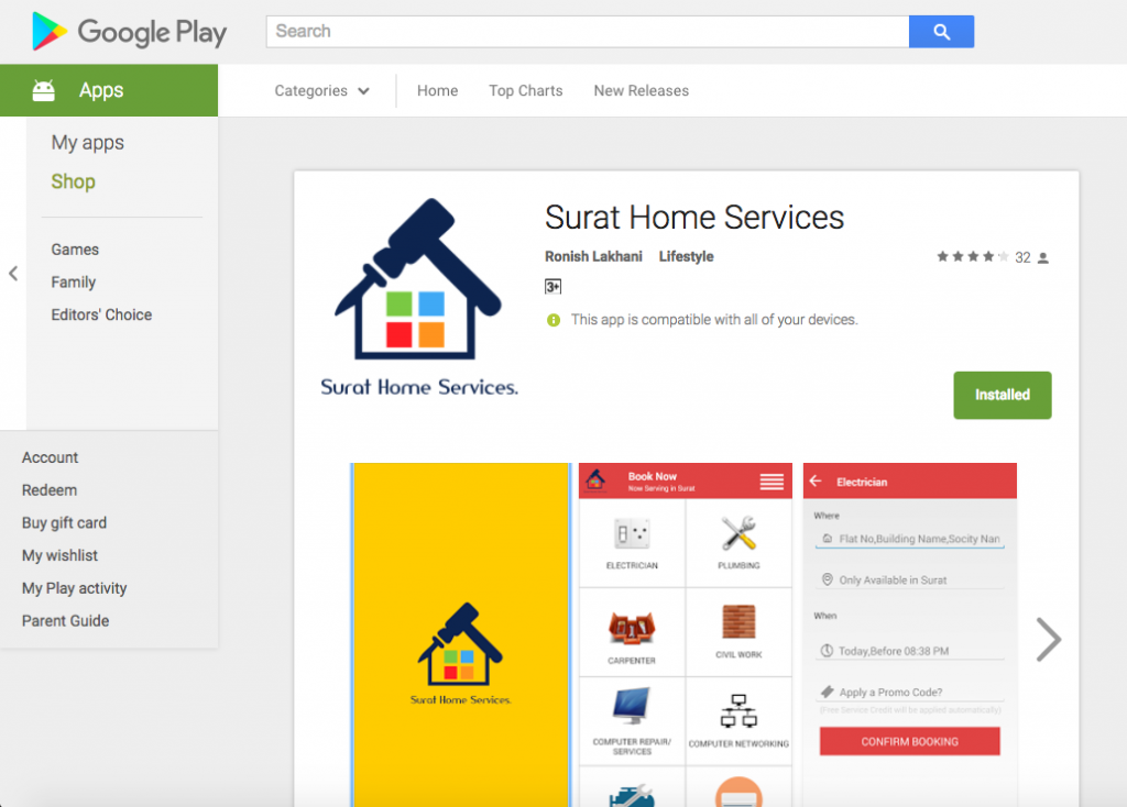 Surat Home Services - ANDROID